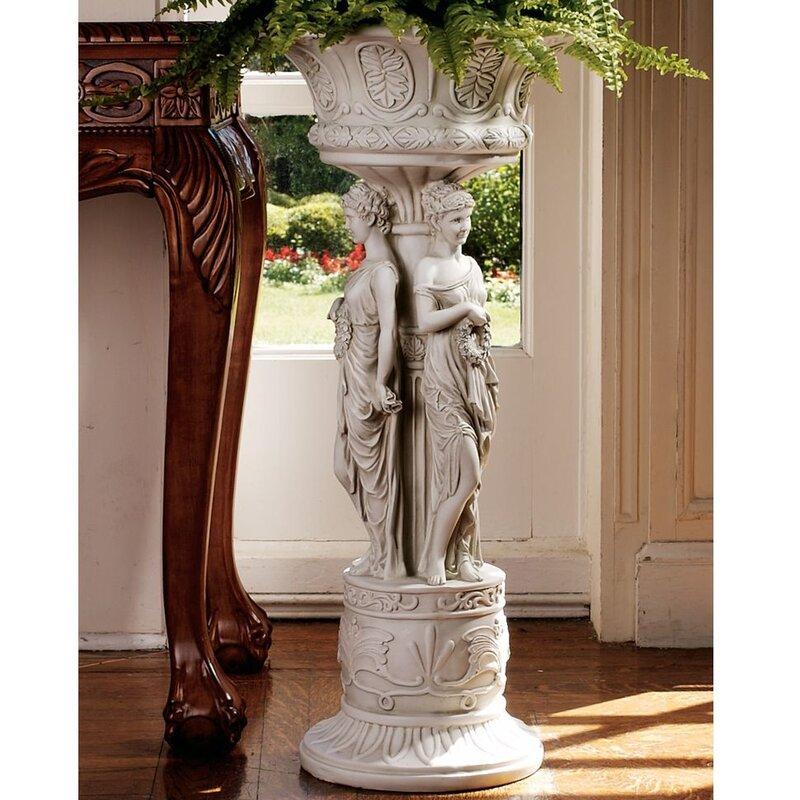 Design Toscano Chatsworth Manor Neoclassical Urn Pedestal Plant - Column pedestal plant stand