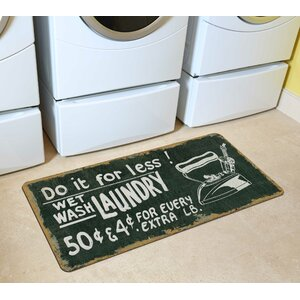 Vintage Laundry Kitchen Mat