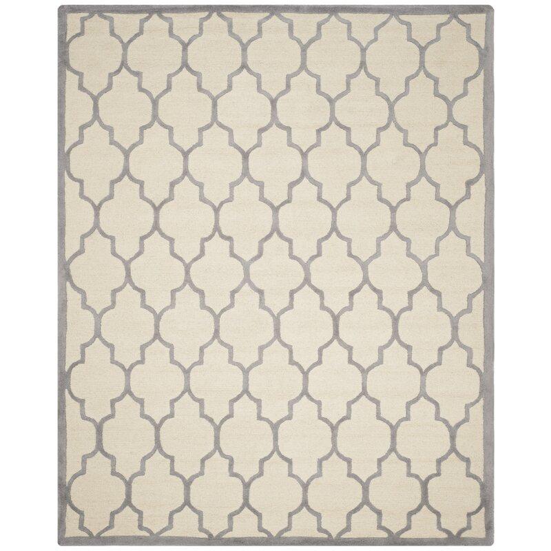 Safavieh Dalton Hand-Woven Wool Ivory/Silver Area Rug