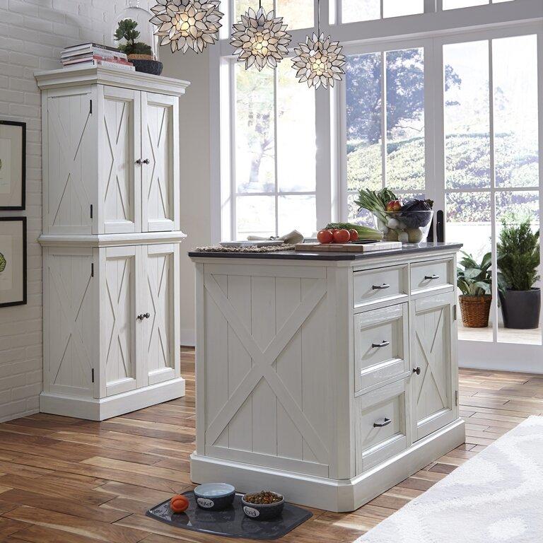 Kitchen Island Furniture Piece: Ryles 3 Piece Kitchen Island Set With Engineered Quartz