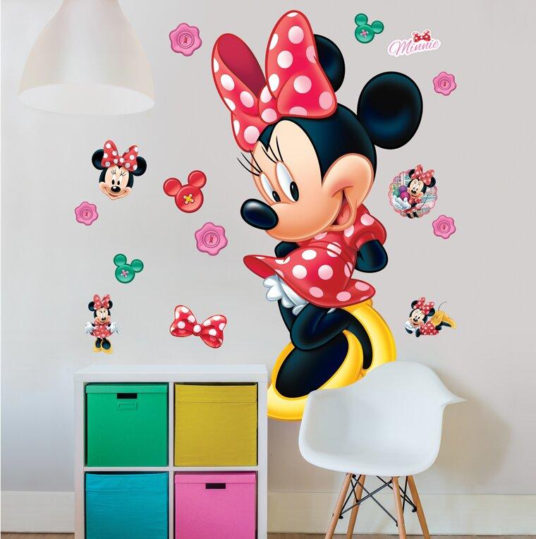 Walltastic Wandtattoo Disney Minnie Maus | Wayfair.de