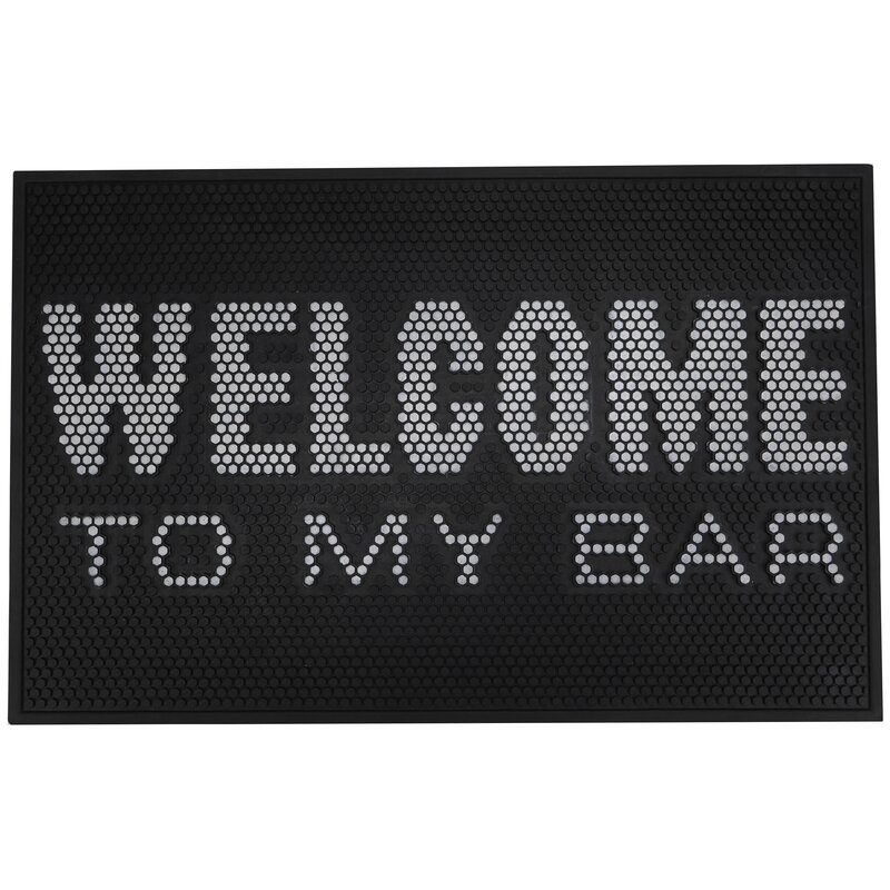 Plum and Punch Welcome Rubber Bar Bath Rug | Wayfair