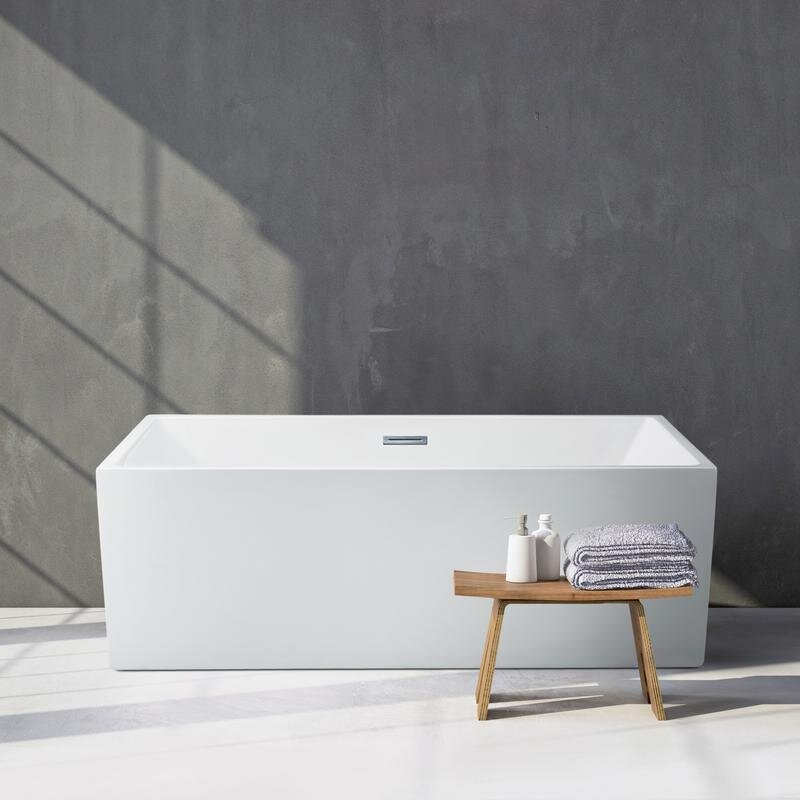 StreamlineBath Freestanding Soaking Bathtub & Reviews | Wayfair