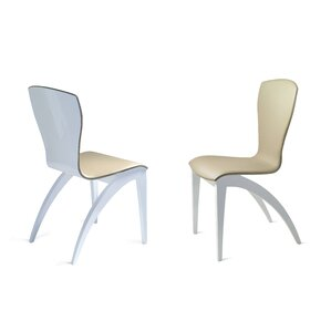 Sinfonia Genuine Leather Upholstered Dining Chair by YumanMod