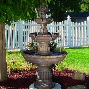 Letchworth Fibergl Resin 4 Tiered Outdoor Water Fountain