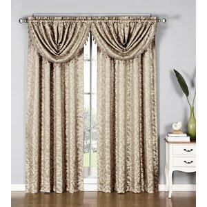 Dorothy Damask Sheer Rod Pocket Single Curtain Panel
