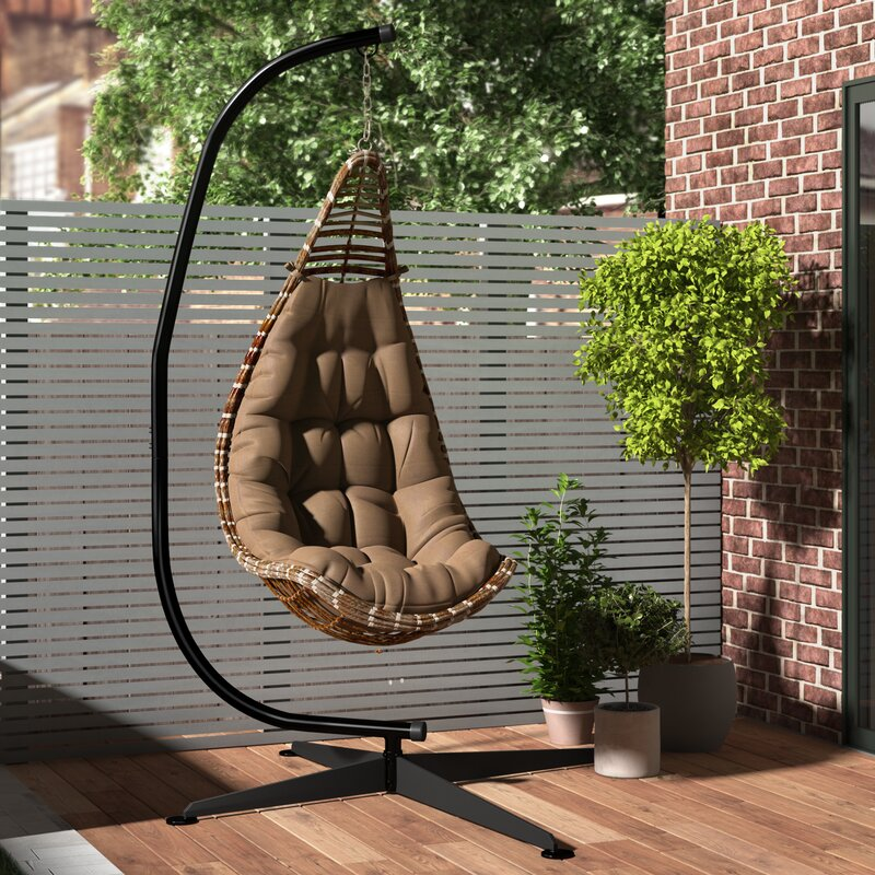 Beautiful Algrenon Solid C Frame Metal Hammock Chair Stand