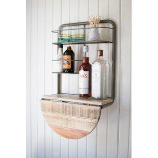 Adairsville Drop Leaf Recycled Wood Mini Bar
