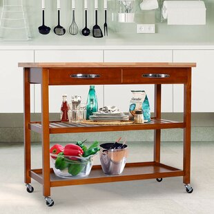 Weidner 3-Tier Kitchen Cart Solid Wood