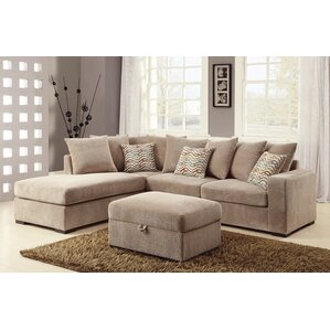 Albin Chaise Reversible Sectional by Loon Peak