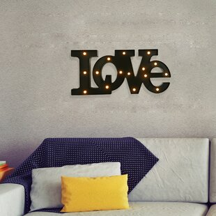 Handmade LED Letter Wall Décor