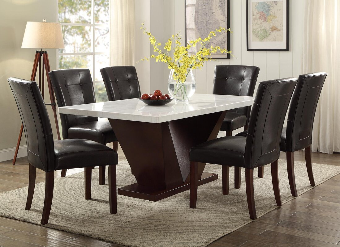 Acme Furniture Forbes Marble Dining Table Amp Reviews Wayfair