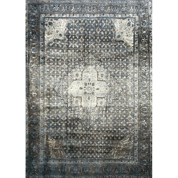 mistana pascoe blue/grey & silver area rug & reviews | wayfair