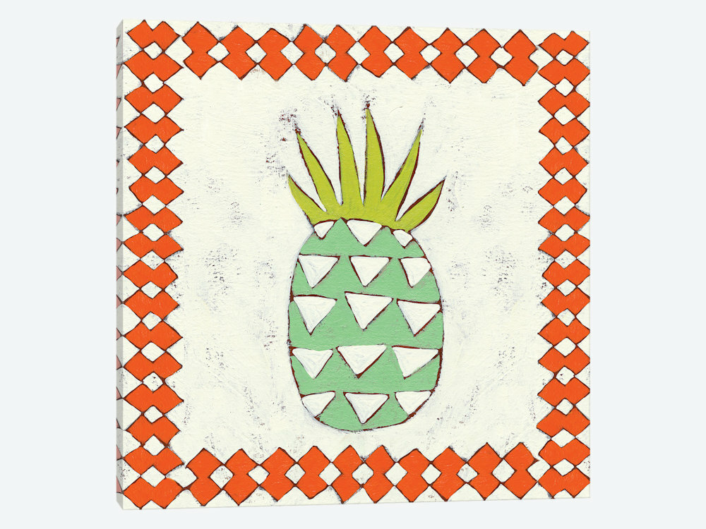 d397807f51b0 'Pineapple Vacation I' Graphic Art Print on Wrapped Canvas | Joss & Main