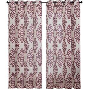Ida Damask Sheer Grommet Curtain Panels