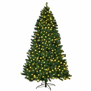 7 Green Pine Artificial Christmas Tree With 300 Single Colored Lights