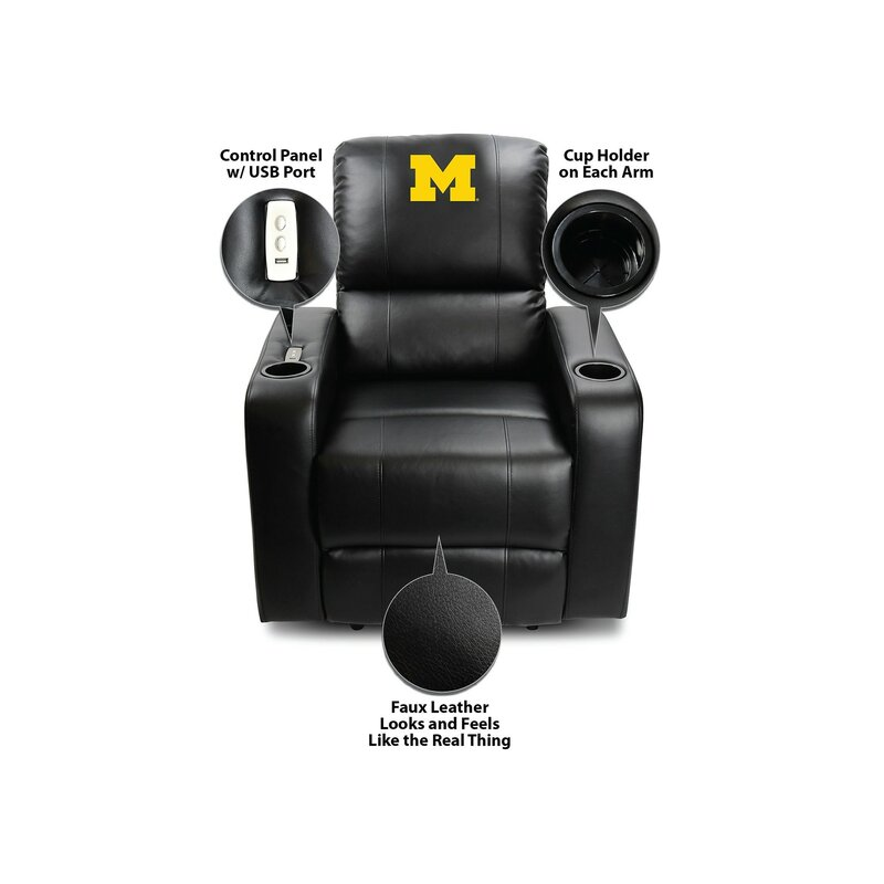 Imperial International NCAA Power Recliner Home Theater Individual