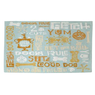 Dog Bark Blue Area Rug