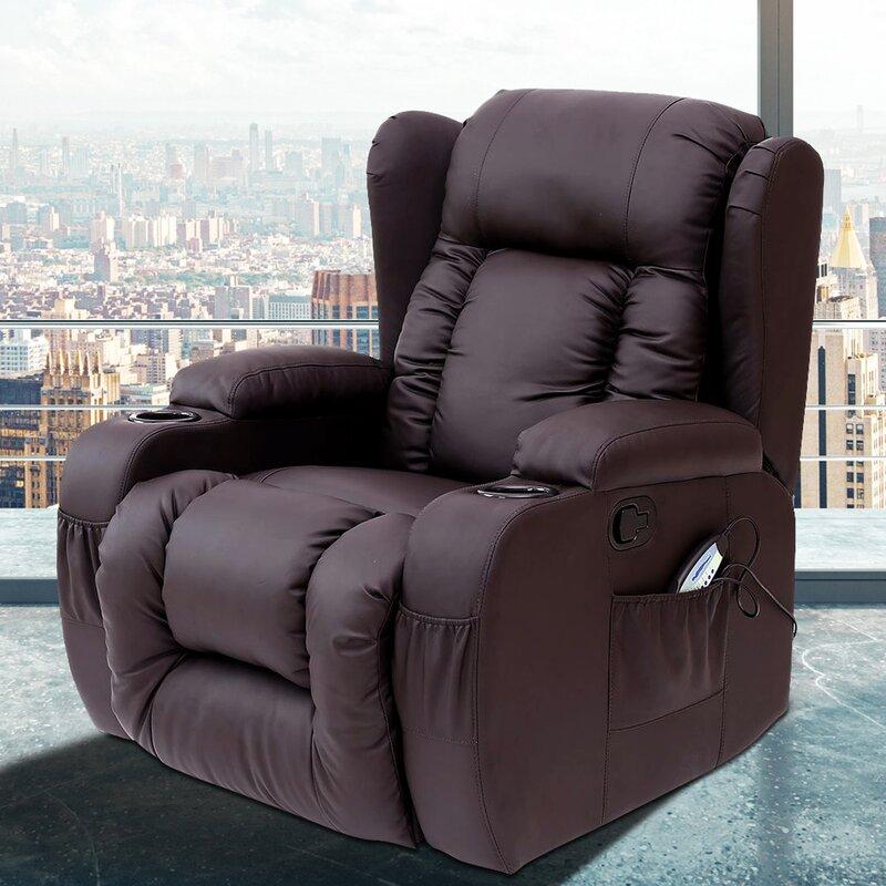 heated massage chair. Idaho Reclining Heated Massage Chair F