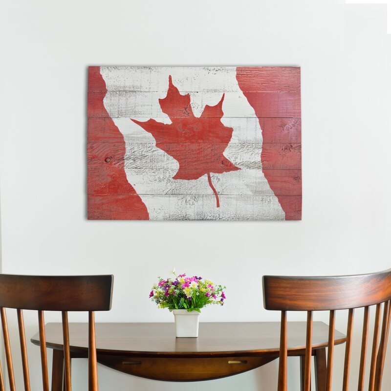 Firesidehome 39 canada flag 39 painting print on manufactured for Wayfair home decor canada