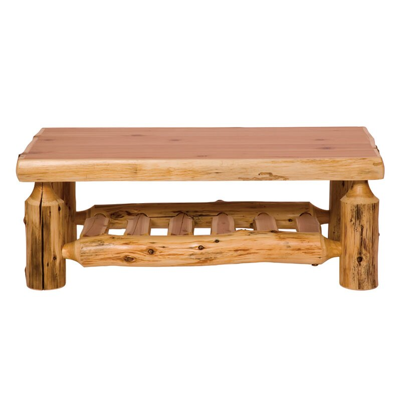 Fireside Lodge Traditional Cedar Log Coffee Table Reviews Wayfair
