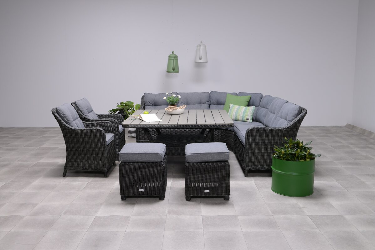 Wildon Home Milwaukee Lounge Dining Sectional With
