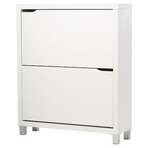 Leslie 2 Drawer Shoe Cabinet