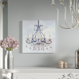 Chandelier canvas wall art wayfair frosted chandelier painting print on wrapped canvas aloadofball Gallery