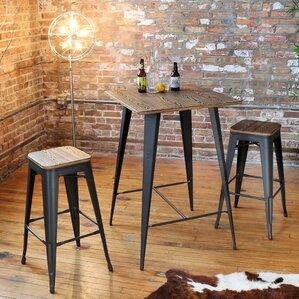 claremont 3 piece pub table set - Bistro Table Sets