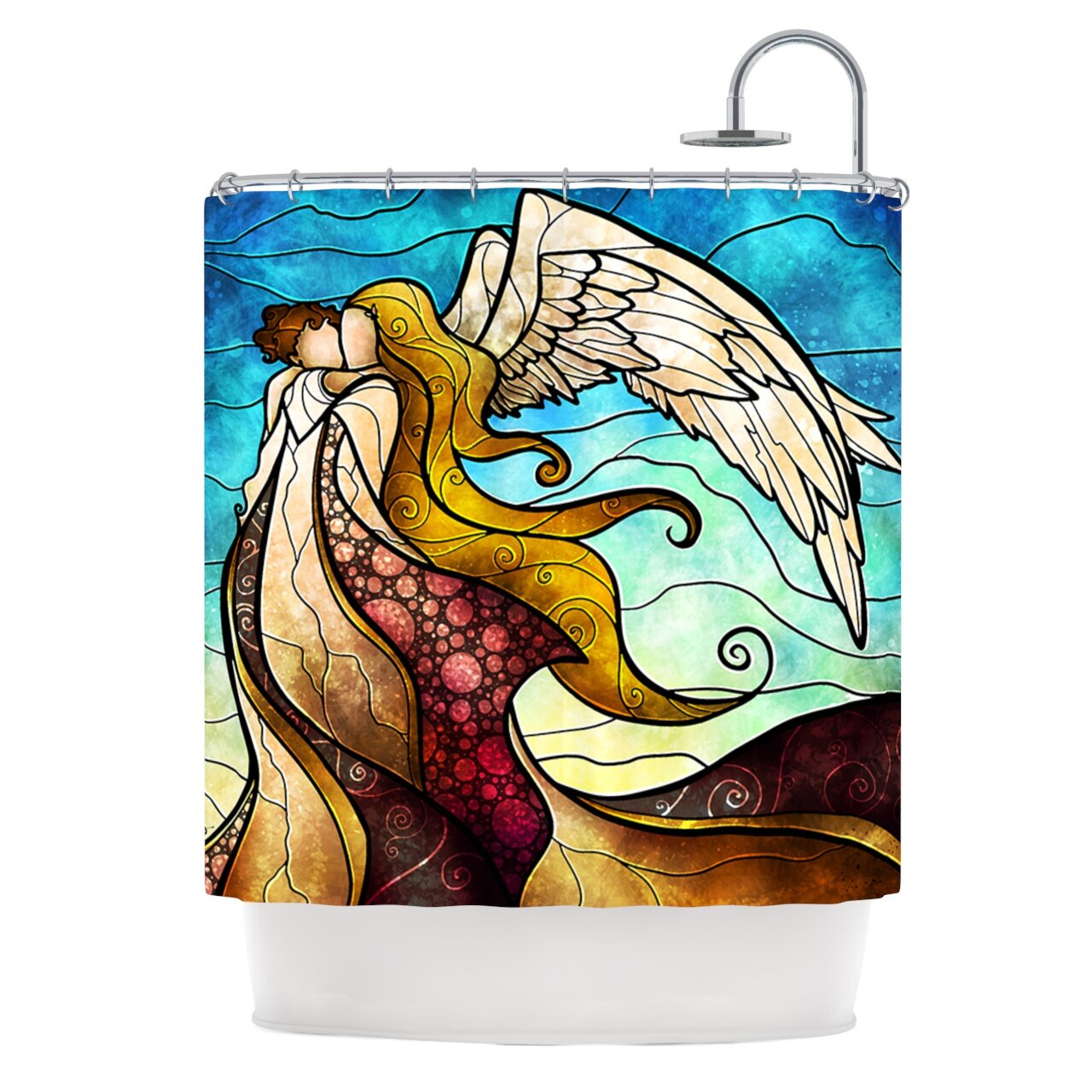 KESS InHouse In The Arms Of Angel Shower Curtain