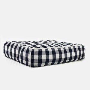 Buffalo Plaid Square Dog Bed