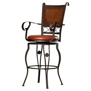 Woodland Swivel Bar Stool by Darby Home Co