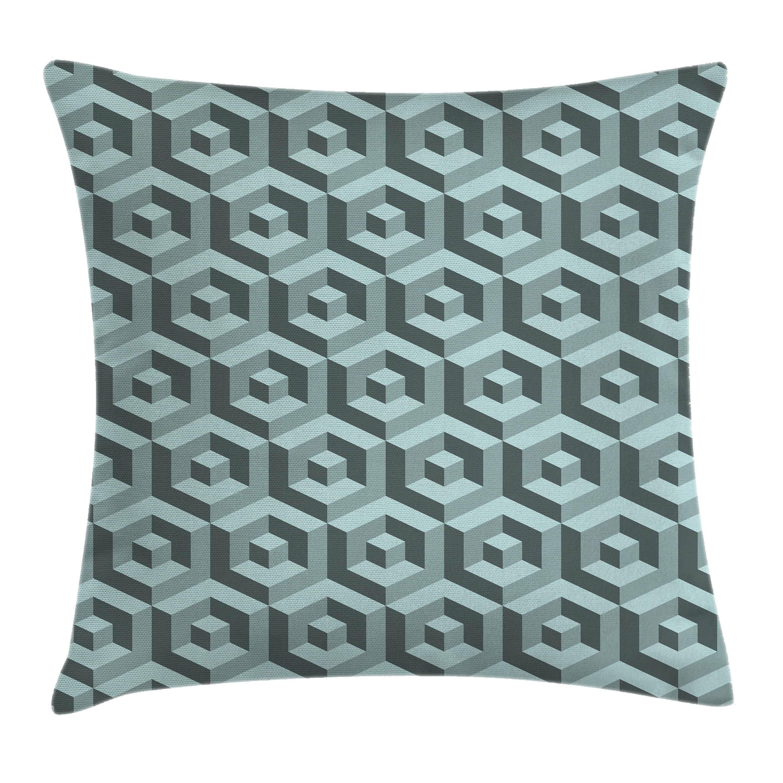 Ambesonne Futuristic Maze Digital Cubical Pillow Cover | Wayfair