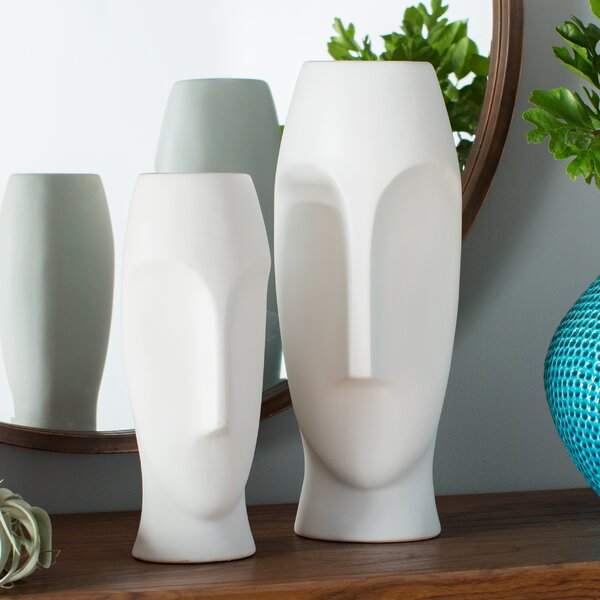 Modern Contemporary White Face Vase Allmodern