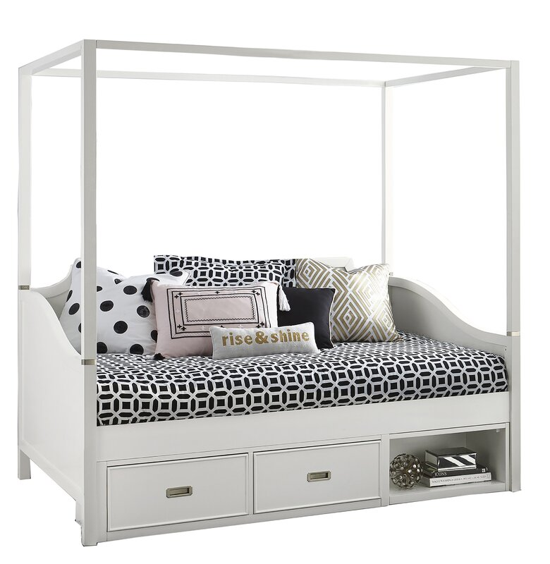 Angus Canopy Daybed with Trundle  sc 1 st  Wayfair : canopy day bed - memphite.com