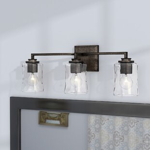 vanity lighting. Berns 3-Light Vanity Light With Clear Watered Glass Lighting