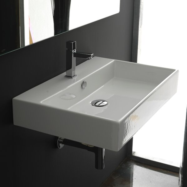 Ceramica Ii Unlimited Ceramic Rectangular Vessel Bathroom