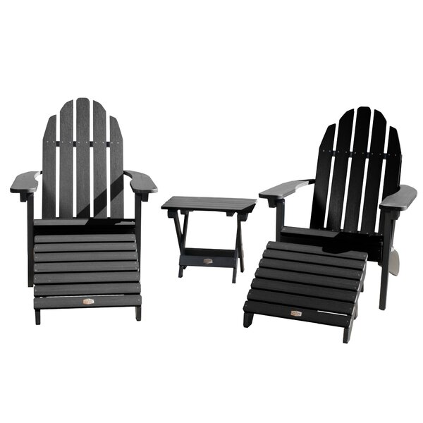 Superieur Breakwater Bay Detrick Plastic Adirondack Chair With Ottoman | Wayfair