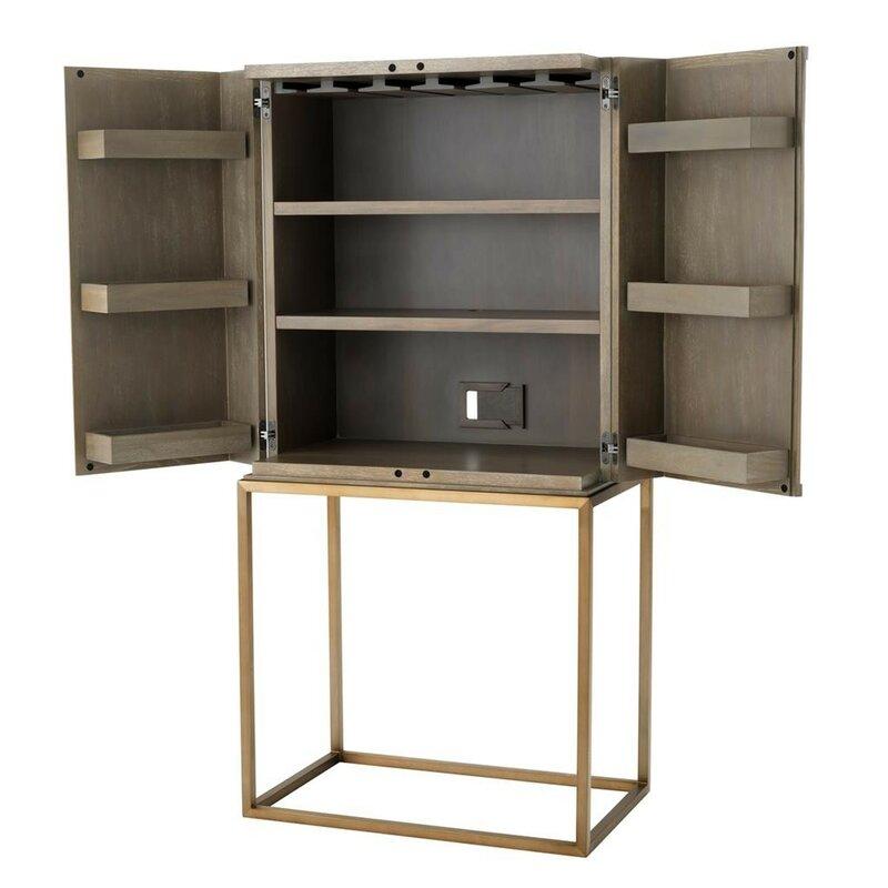 De La A Mid Century Bar Cabinet