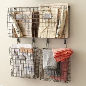 Wall Hanging Wire Baskets wire wall mounted baskets | wayfair