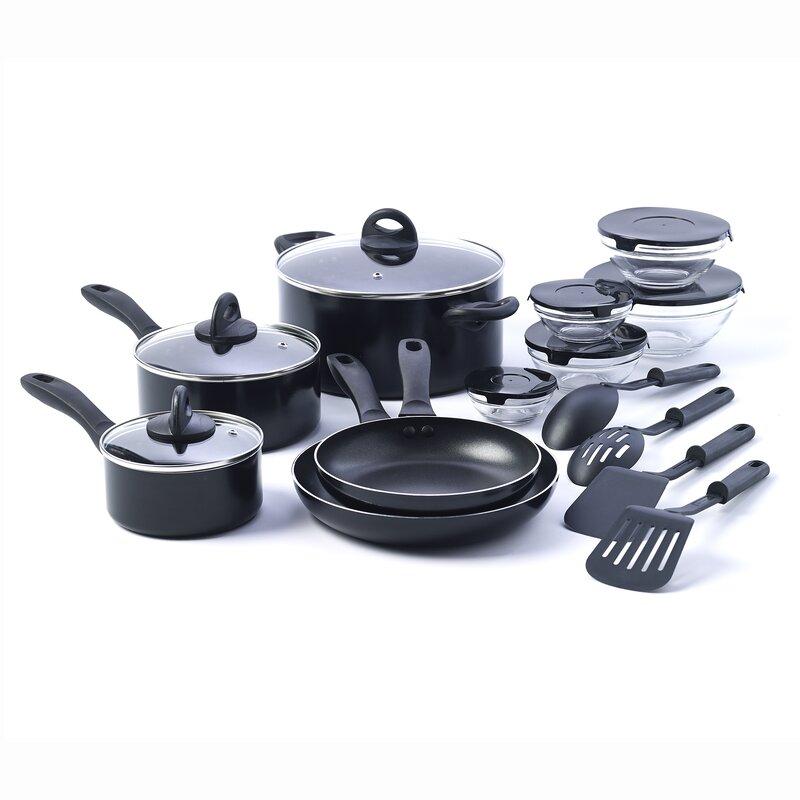17 Piece Non Stick Kitchen Starter Cookware Set