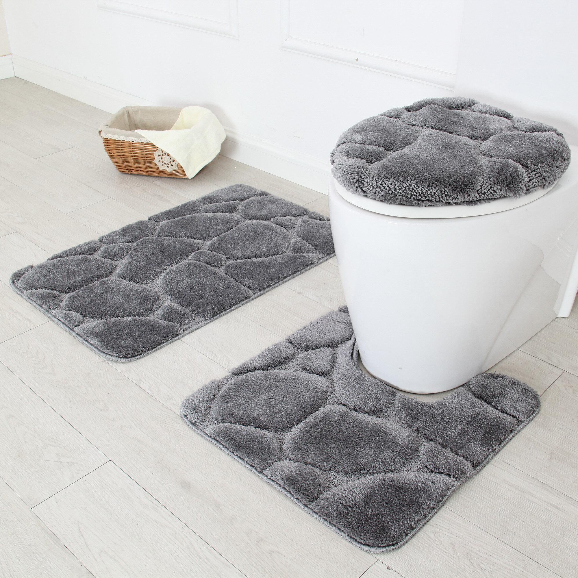 Merveilleux Hardcastle 3 Piece Bath Rug Set