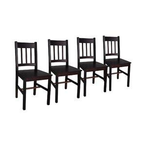 4-tlg. Esszimmerstuhl-Set aus Massivholz von dCor design