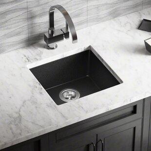 Undermount Granite Kitchen Sink Undermount granite sink wayfair granite composite 18 x 17 undermount kitchen sink with basket strainer workwithnaturefo