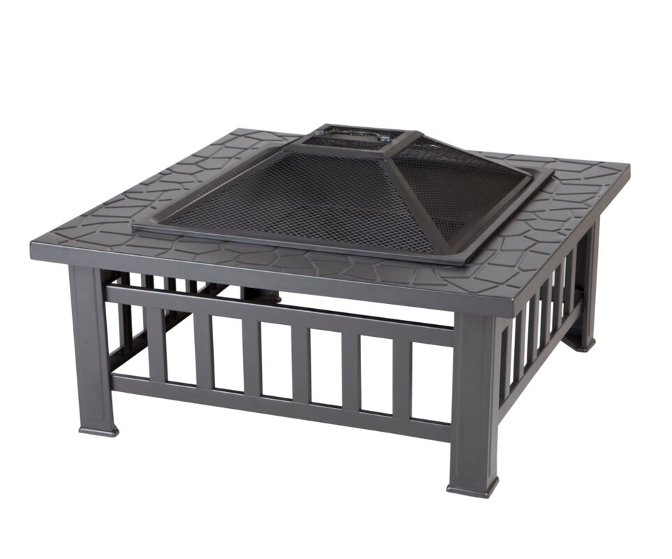 Stonemont Steel Wood Burning Fire Pit Table