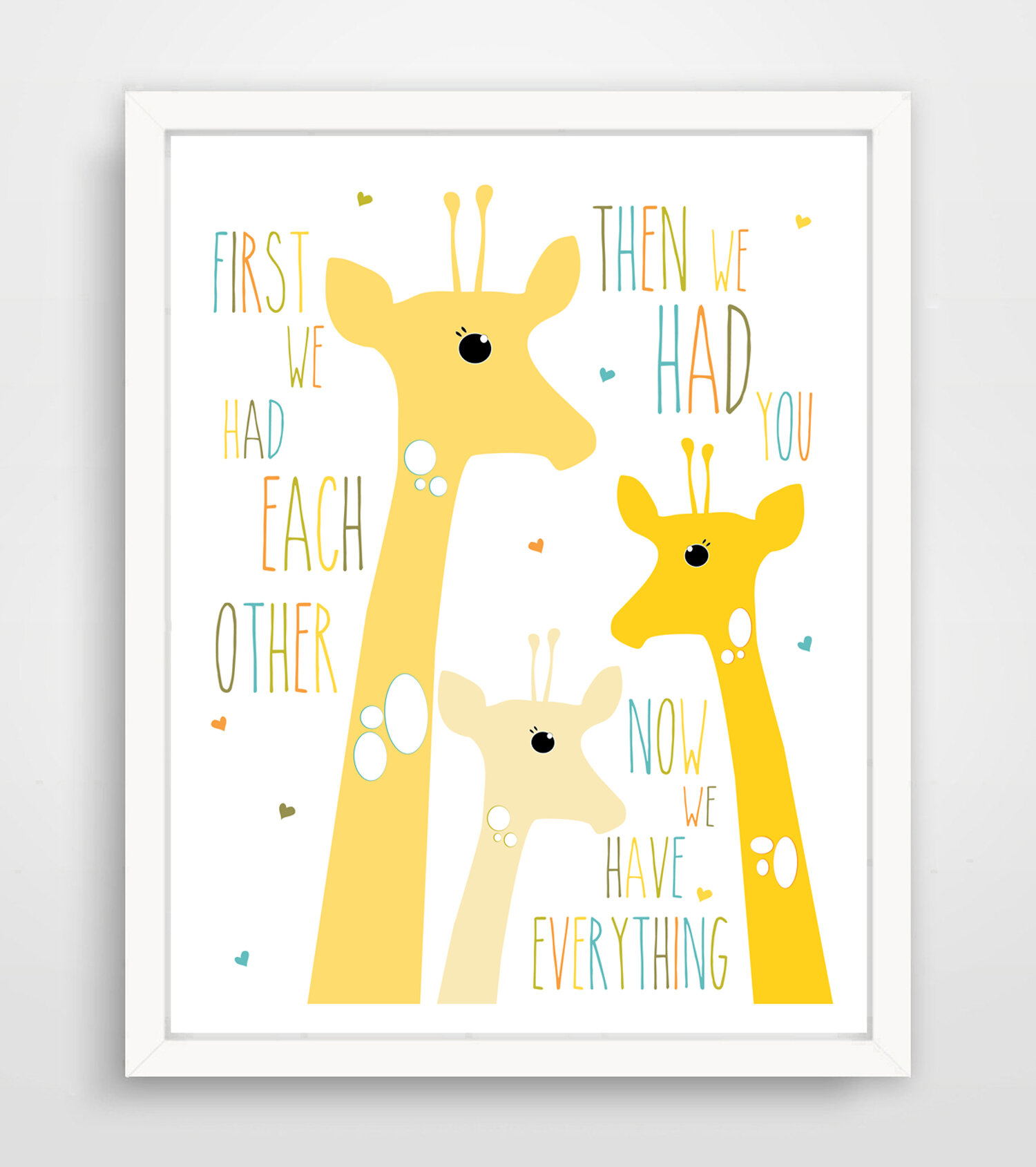 Finny and Zook First We Had Each Other Yellow Giraffe Paper Print ...