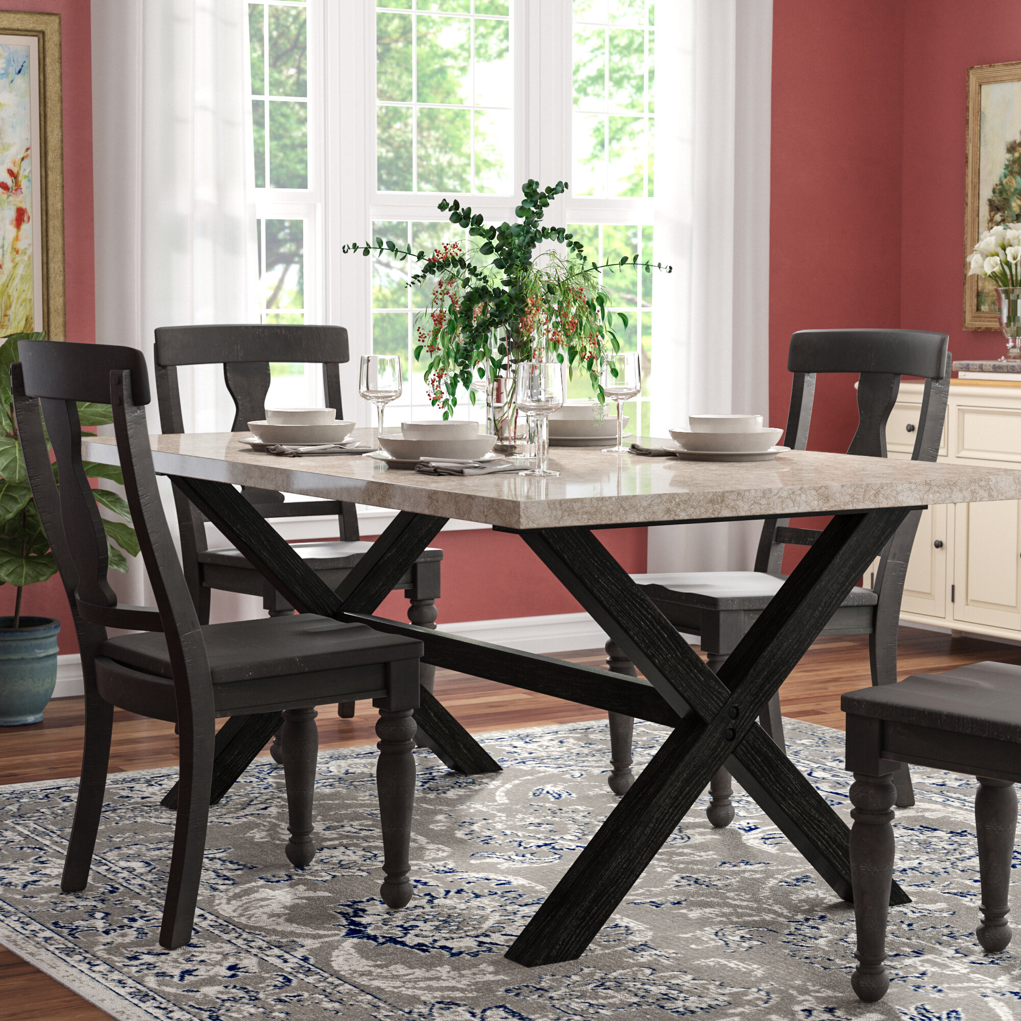 red barrel studio coleville solid wood dining table reviews wayfair rh wayfair com  how to clean real wood kitchen table