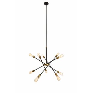 Chandeliers modern contemporary designs allmodern burkley 10 light sputnik chandelier aloadofball Gallery