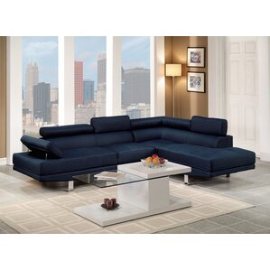 Navy Blue Velvet Sectional Wayfair