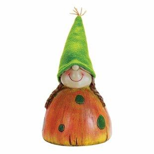 Girl Gnome Mushroom Head Statue